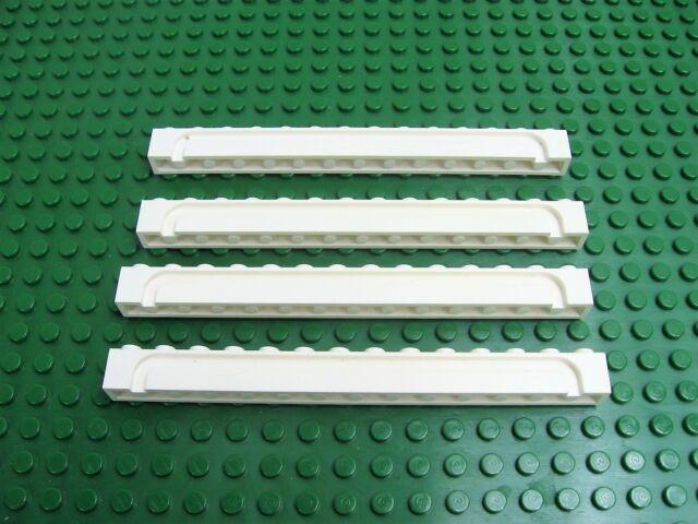 LEGO White 1x14 Rolling Garage Door Groove Brick