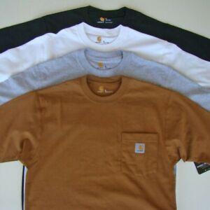 Carhartt-Men-039-s-Work-Wear-Pocket-T-shirt-Cotton-Regular-K87-Short-Sleeve