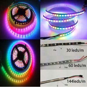 WS2812B-5050-LED-Flexible-Strip-1M-30-60-144-LED-Individual-Addressable-YT