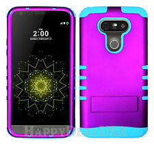 KoolKase Hybrid Rugged Impact Silicone Cover Case for LG G5 - Purple (R)