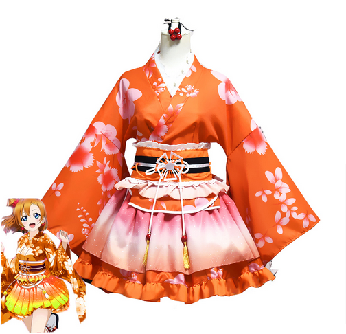 Nishikino Maki Seven Mascot Awakening God Dress Cosplay Costume Anime LoveLive