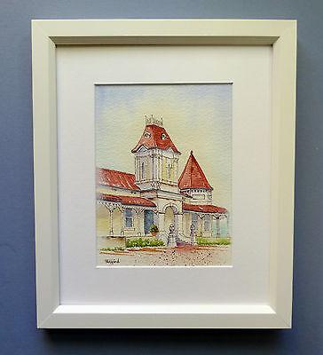 "Original Framed  Watercolour ""Pastoral Towers"" North Bundaleer, South Australia"