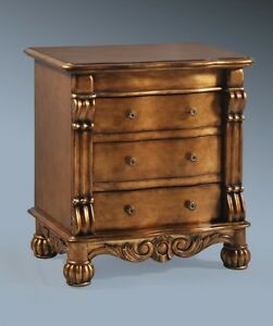 SOLID-MAHOGANY-ANTIQUE-OLD-GOLD-GILT-FRENCH-ITALIAN-ORNATE-BOUDOIR-SIDE-TABLE