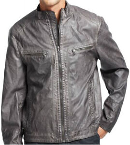 Kenneth Cole New York Faux Leather Moto Jacket