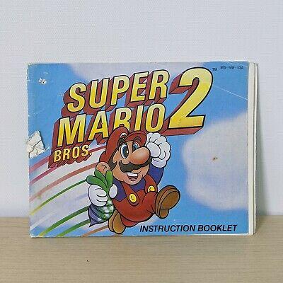 Super Mario Bros 2 Nes Nintendo System Original Instruction