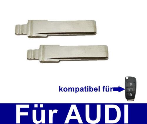 2x Remplacement pliante Clé Du brut pour audi a3 a4 a5 a6 a8 q3 q5 q7 TT DHA
