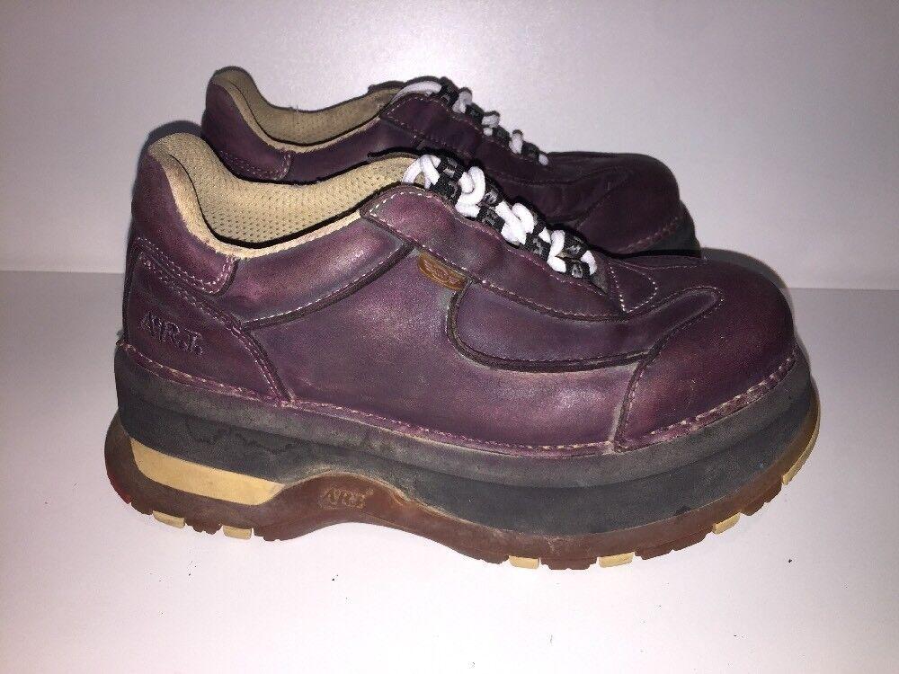 Para mujeres zapatos de arte púrpura raro Uk7 Grueso EU40 De Espesor Grueso Uk7 Hippy Festival Rock Zapatos d33086