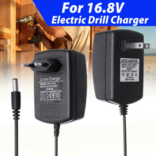 16.8//17V 1.3//0.8A Charger Adapter For Electric Drill Lithium Battery Charger