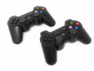 2-X-Joystick-Playstation-3-Joypad-PS3-Wireless-Controller-Senza-Fili-Gamepad