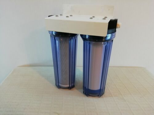 Double Under Counter water high capacity filter housing with new filters