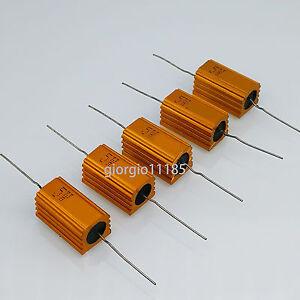 US-Stock-5pcs-3-3-ohm-3R3-5W-Watt-Aluminum-Housed-Metal-Case-Wirewound-Resistors