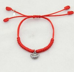 Details about 925 Sterling Silver Good Luck Kabbalah Red String Bracelet  Protection Evil Eye