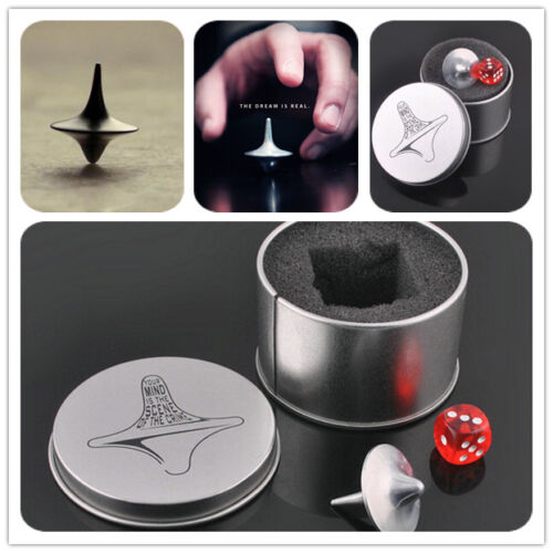 Details about  /Quality Inception Totem Accurate Spinning Top Zinc Alloy Silver Vintage ToyP uW