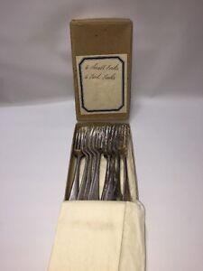 EPNS-6-Forks-6x-Fish-Victoria-Plate-Hallmarked-Vintage-Victoria-A