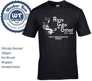 New-Rory-Gallagher-Tribute-T-Shirt-Rorys-Guitar-School-size-S-XXL-Ireland