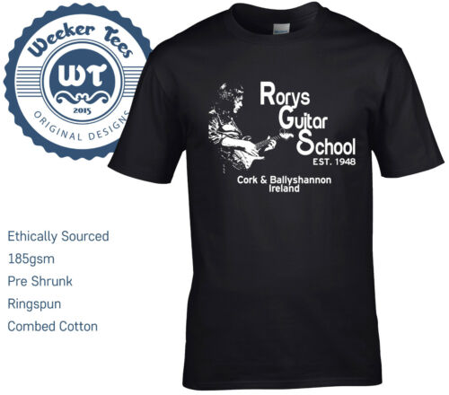 New Rory Gallagher Tribute T Shirt Rorys Guitar School size S XXL Ireland