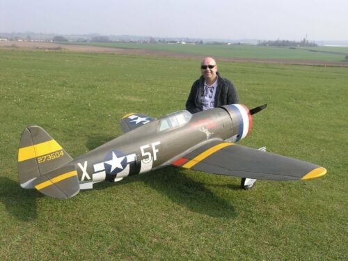 Giant P47D Thunder Bolt Enlarged to 14 Scale Model AIrplane Printed Plans