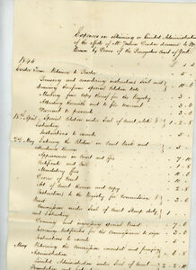 1845 - Expences relating to Joshua Denton, York.