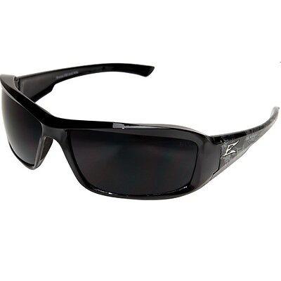 EDGE EYEWEAR XB116-S Brazeau Safety Glasses Black Frame And Gray