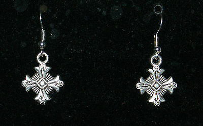 FANCY CROSS EARRINGS - emo gothic steampunk cosplay reenactment deathrock