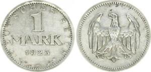 Weimar 1 Mark 1925 A, Very Schön-vorzüglich
