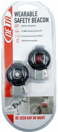 Delta Bike Light Set USB Rechargable Front or Rear USA Shipper 50 lumen Charity