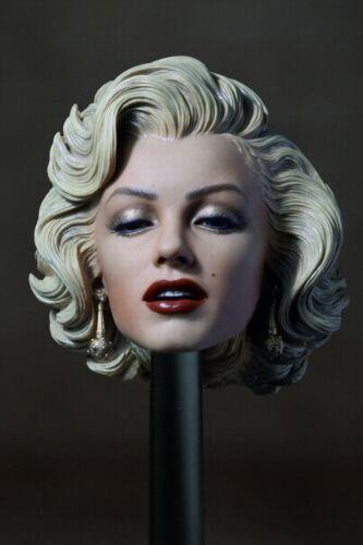 "1//6 Blonde Hair Head Carving Model 1953 Marilyn Monroe F//12/"" Female ActionFigure"