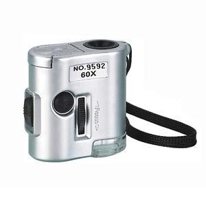 60X-Microscope-Jeweler-Loupe-Illuminated-Magnifier-Glass-with-LED-UV-Light-New