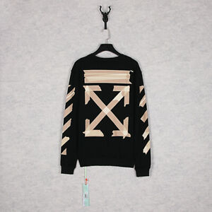 2020ss-OFF-WHITE-Limited-Style-Monet-oil-painting-Arrow-Men-Women-Sweater-2038
