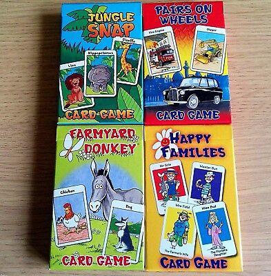 4x Nuovo-card Game Set-asino Famiglie Felici Coppie Di Snap-carte Per Bambini X 4-mostra Il Titolo Originale Vendite Di Garanzia Della Qualità