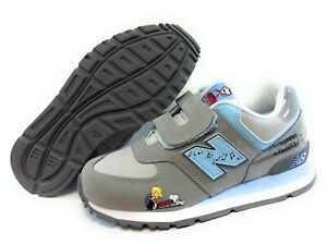 Infant Toddler Kids Girls New Balance 574 SCP Peanuts Linus Grey Sneakers Shoes