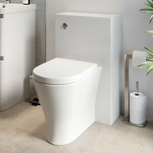 Modern Bathroom Toilet WC Concealed Cistern Unit ONLY White 500mm