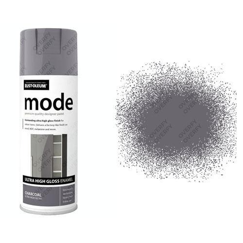 x 1 Rust-Oleum MODO Premium Ultra Alto Brillo Pintura EN AEROSOL GRIS OSCURO