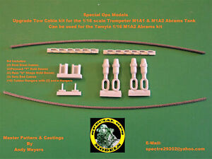 Special Ops 1:16 M1A1 & A2 Abrams Tank Tow Cable sets for Trumpeter or Tamiya
