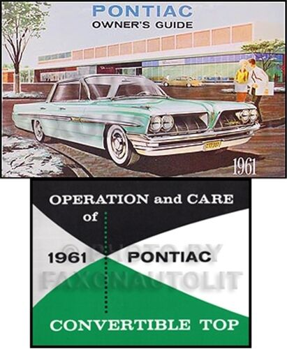 1961 Pontiac Bonneville and Catalina Convertible Owners Manual Set Guide Books