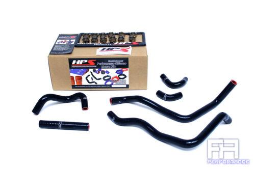 HPS Silicone Heater Coolant Hose Kit For Toyota 00-05 MRS MR2 Spyder 1.8L Black