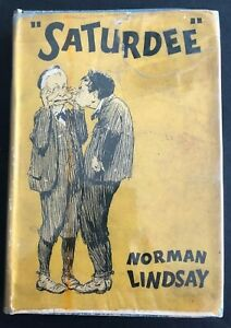 1933-1ST-SATURDEE-NORMAN-LINDSAY-rare-dustjacket-1st-edition-FREE-SHIPPING