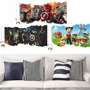 the avengers superhero wall stickers home decor removable