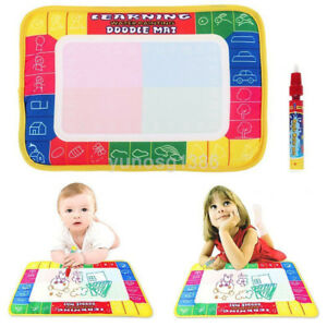 Funny-Water-Drawing-Writting-Magic-Doodle-Mat-Boards-Pen-Kids-Boy-Girl-Toys-New