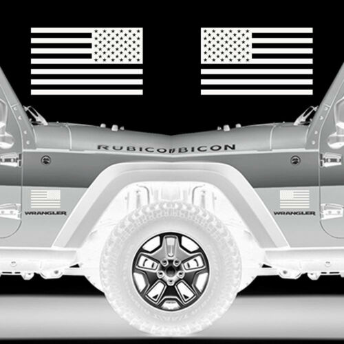 """Set of 2 US American Flag Military Left /& Right Sticker Vinyl Decal 10/""""x 6/"""""""