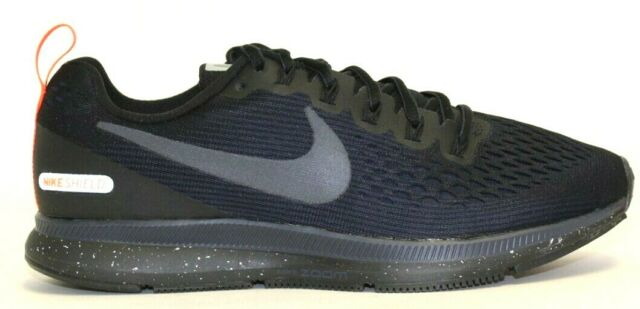pretty nice 8e678 31e32 Nike Air Zoom Pegasus 34 Shield Water Repel Black Blue Men Running  907327-001 8