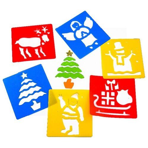 Reindeer Arts /& Crafts Kids Santa Christmas Stencils Xmas 6 Children