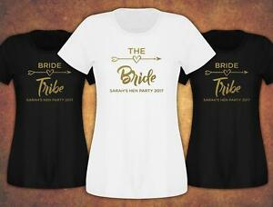 8a05640de4 Hen Do Party Bride Tribe 2019 Custom Personalised T-shirt Ladies ...