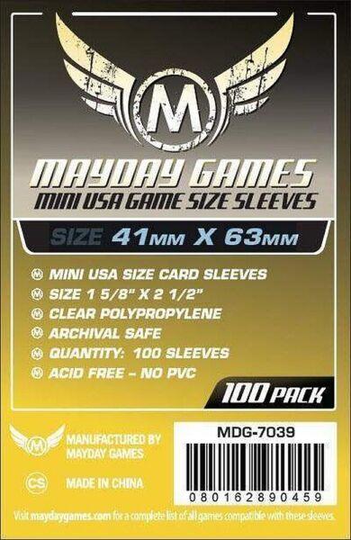 100 Mini Usa Pochettes ( 41 Mm X 63 Mm) Mdg7039
