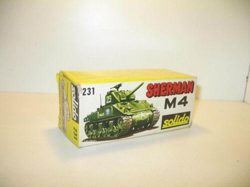 Schachtel Panzer M4 Sherman Militär Repro Solido N10