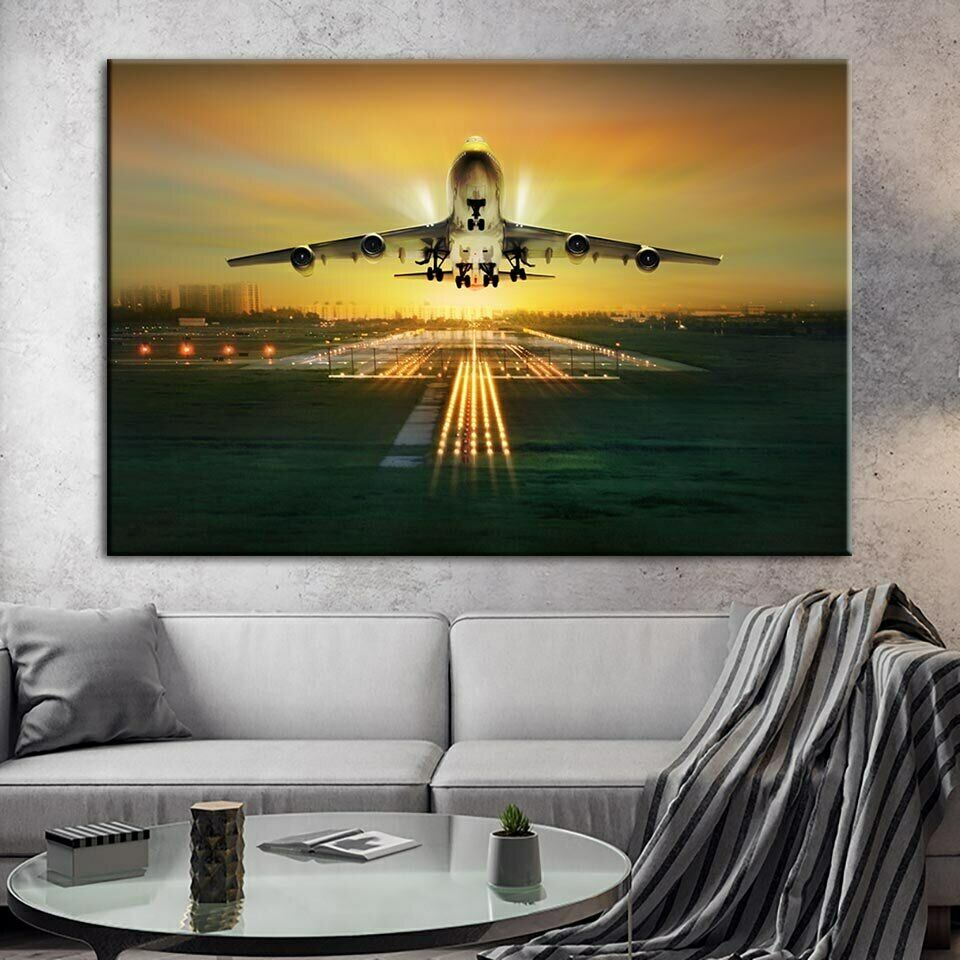UP UP AND AWAY AIRCRAFT WALL ART  Canvas  Painting Prints 1 Piece Hot Sale