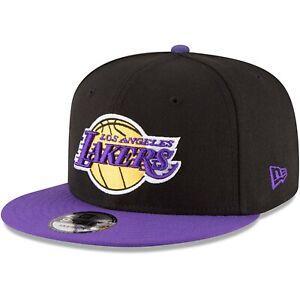 Los-Angeles-Lakers-New-Era-9Fifty-Basic-Black-2-Tone-Adjustable-Snapback-Hat-Cap