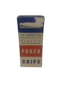 Vintage-Embossed-Noiseless-Unbreakable-Poker-Chips-Flower-Design-95-with-box