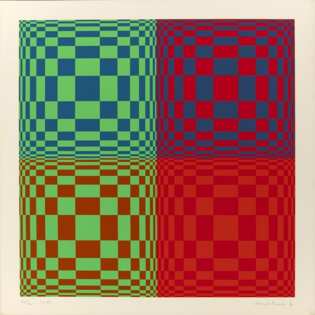 "Landi Edoardo Landi ""Struttura ortogonale"" (serigrafia - screen printing) - 1971"