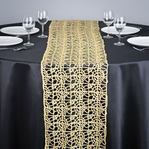 Superbe Image Is Loading Gold Chemical Lace Sequin Table Runner 14 X